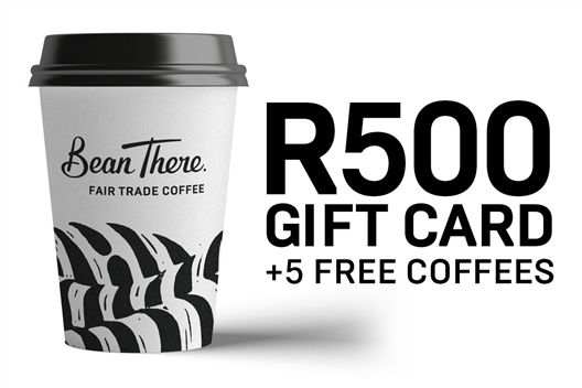 Bean There Coffee Company R500 Voucher + 5 Free Coffees